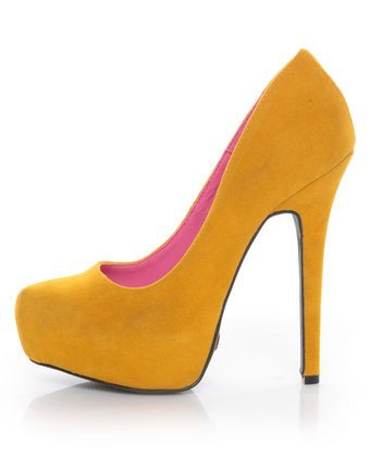 ac7869928a4 Promise Real Mustard Yellow Suede Platform Pumps...Bridesmaid shoes ...