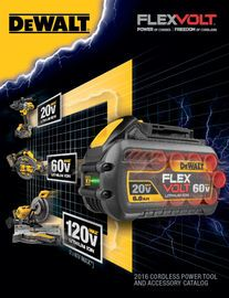 DEWALT FLEXVOLT Catalog 2016 | http://paperloveanddreams.com/book/1124539815/dewalt-flexvolt-catalog-2016 | The DEWALT� FLEXVOLT� Brochure is an interactive, easy-to-read explanation of the products associated with the innovative technology of our FLEXVOLT�battery system.