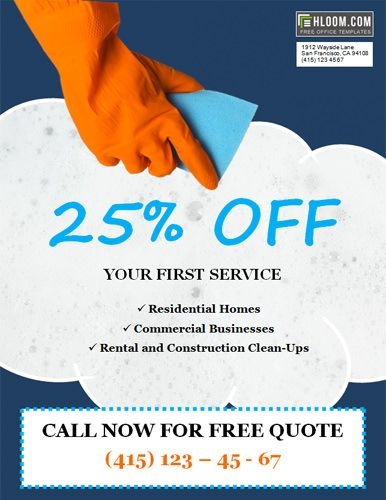 House Cleaning Flyer Template with Special Discount Offer