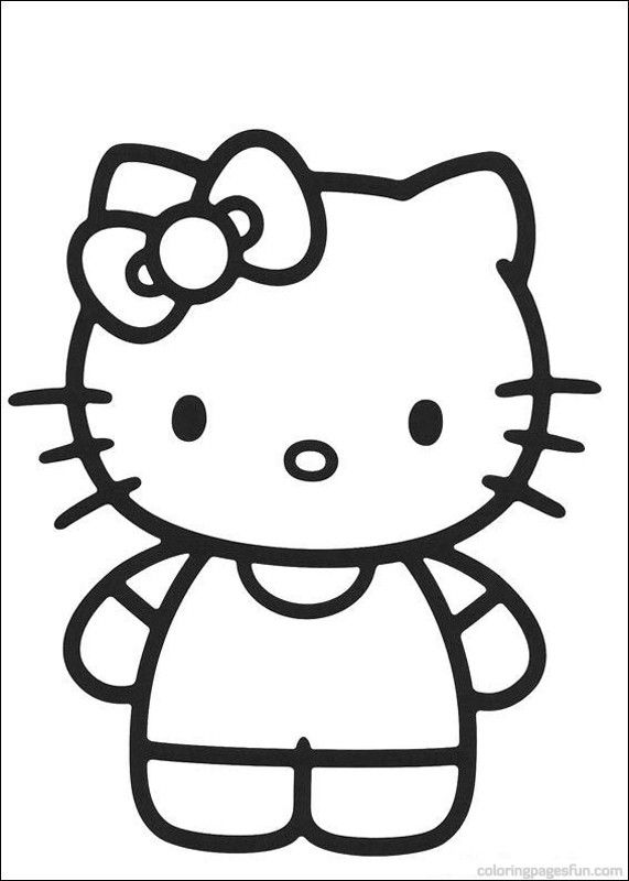 hello kitty coloring pages 39 free printable coloring pages coloringpagesfuncom - Coloring Pages To Print Of Hello Kitty