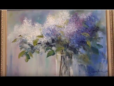 peindre fleurs peindre bouquet de lilas cours de peinture l 39 huile pour debutant sur sakharov. Black Bedroom Furniture Sets. Home Design Ideas