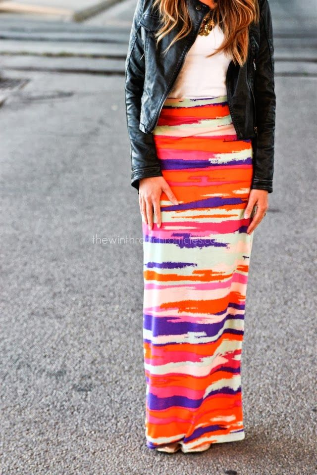 high wasted maxi skirt tutorial to sew