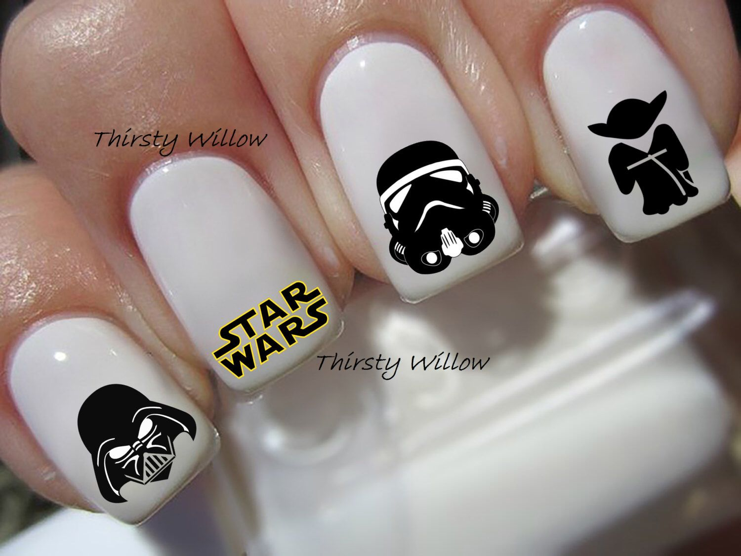 Star Wars Nail Decals by ThirstyWillow on Etsy https://www.etsy.com ...