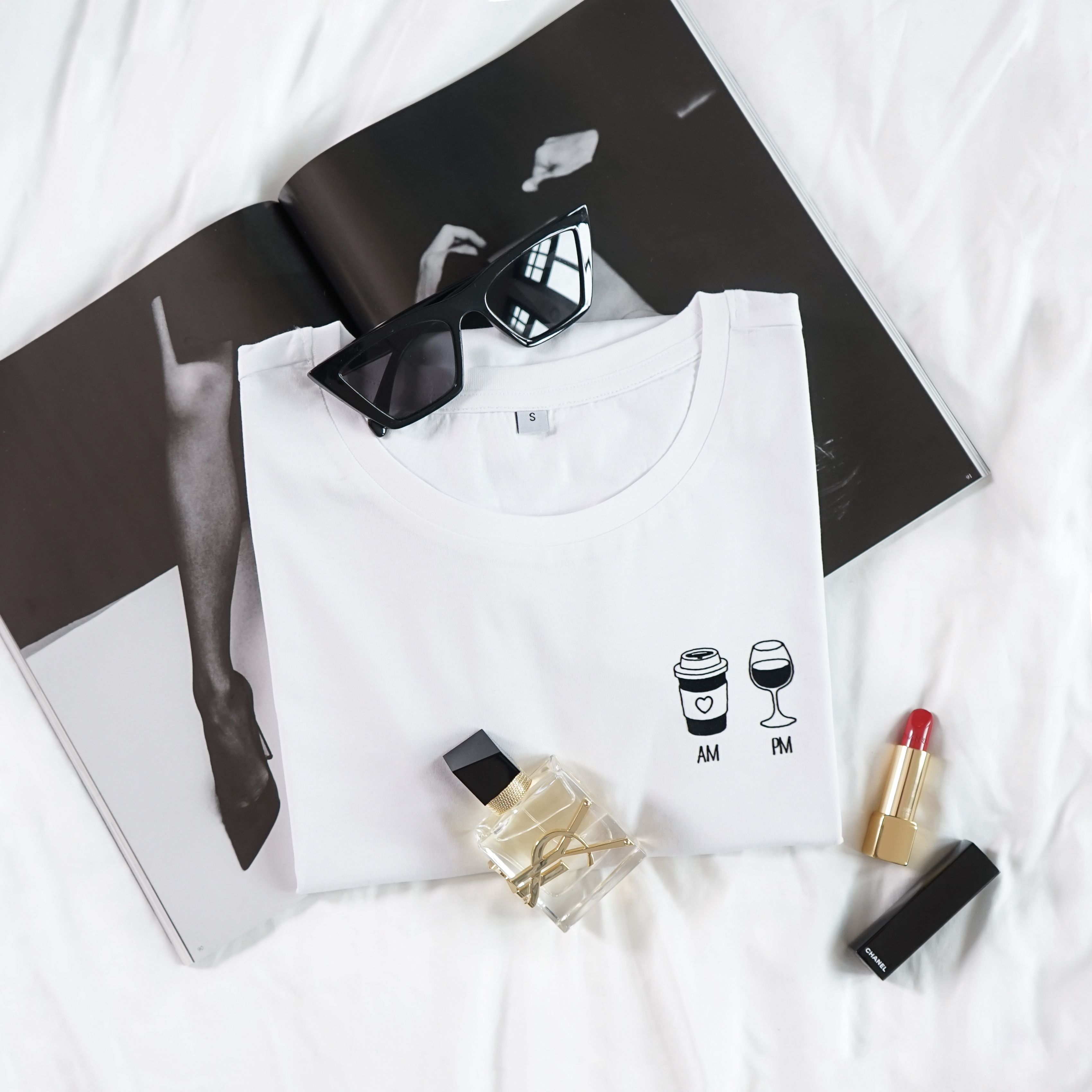 Am Coffee Pm Wine T Shirt Hemd Shirts T Shirt
