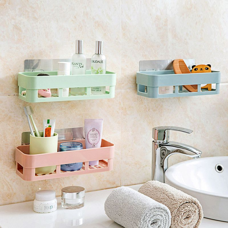 1pc Plastic Shelf Bathroom Shelf Shelf Kitchen Shelf Storage Rack