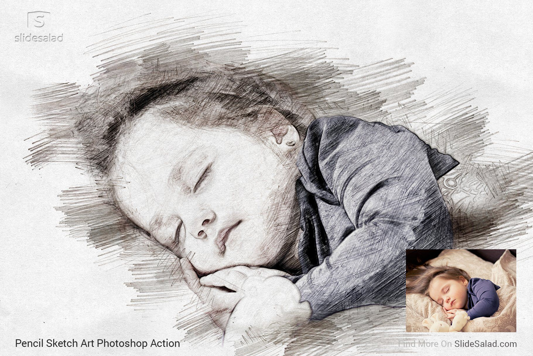 Pencil Sketch Art Photoshop Action With Images Art Sketches