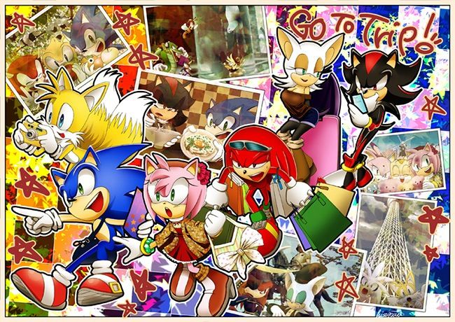 Sonic and friends travel around the world.