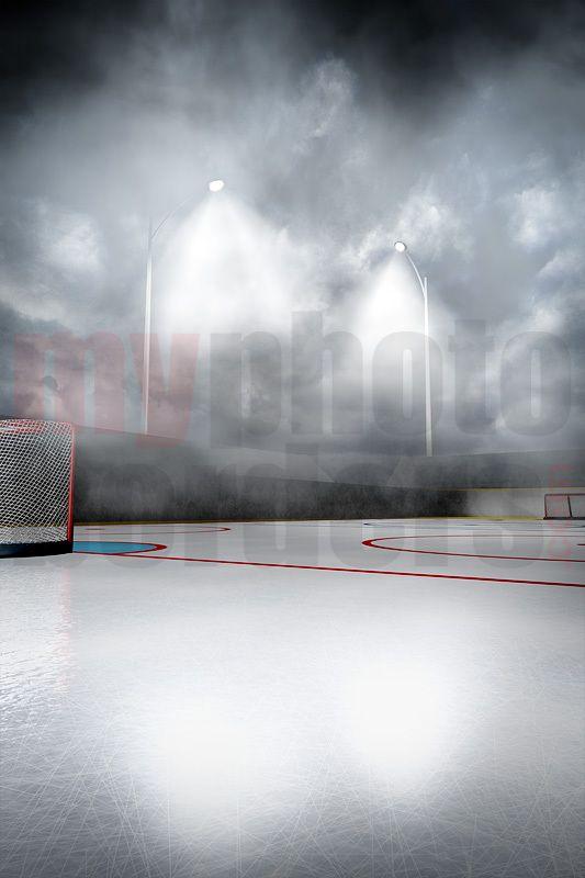 Digital Background Outdoor Hockey Green Screen Backdrop Digital Backdrops Greenscreen