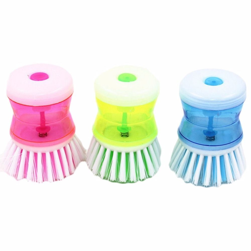 1,65€ - Kitchen Gadgets Pan Pot Dish Cleaning Brush Wash Tool With ...