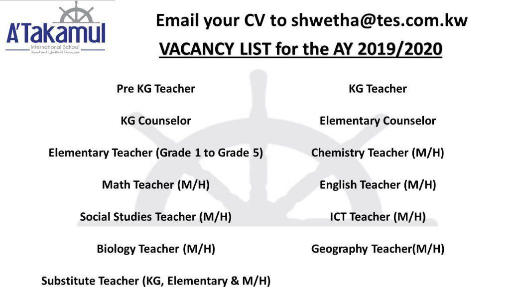 Multiple Teachers Job Openings Kuwait Jobs For Teachers Job