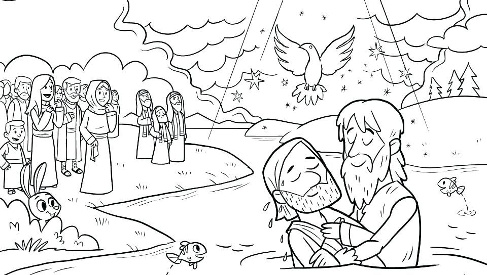New Coloring Pages Jesus Baptism Free Jesus Coloring Pages