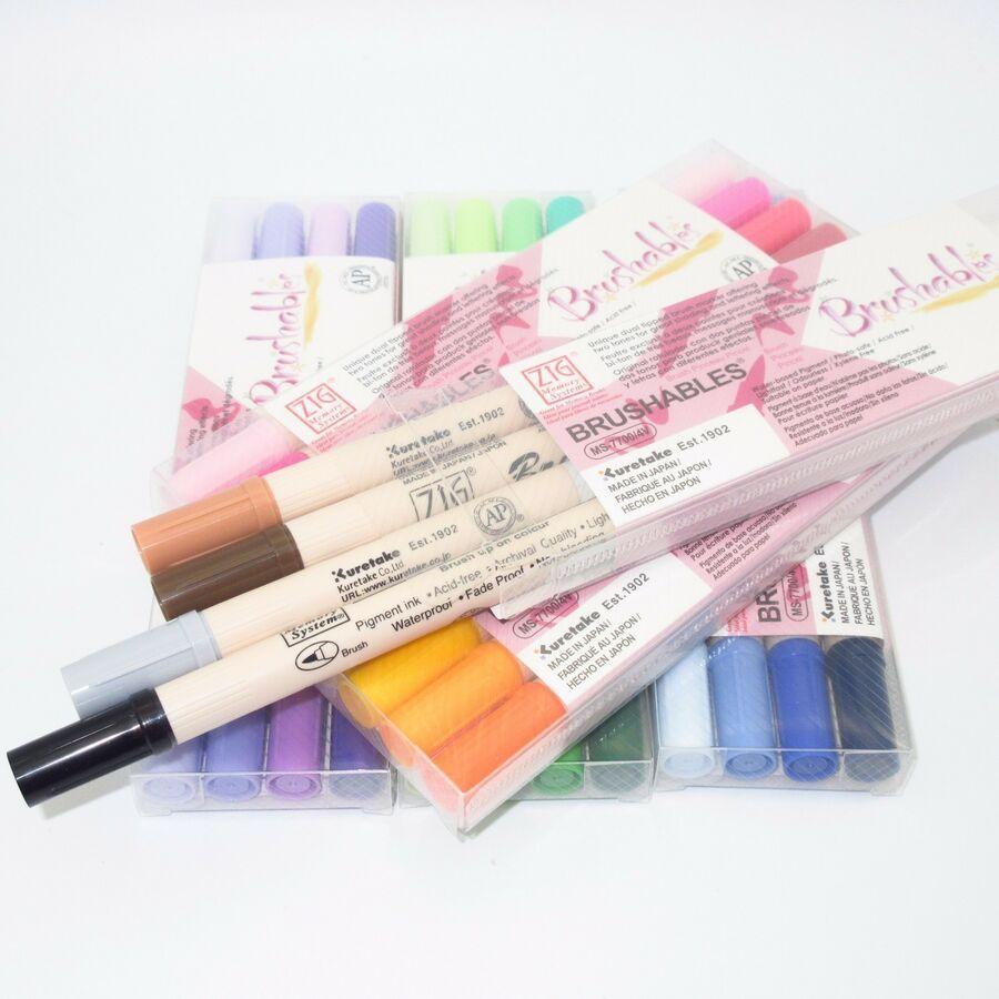 Zig Kuretake Marker Pen Set Ms 7700 Watercolor Brush Pens