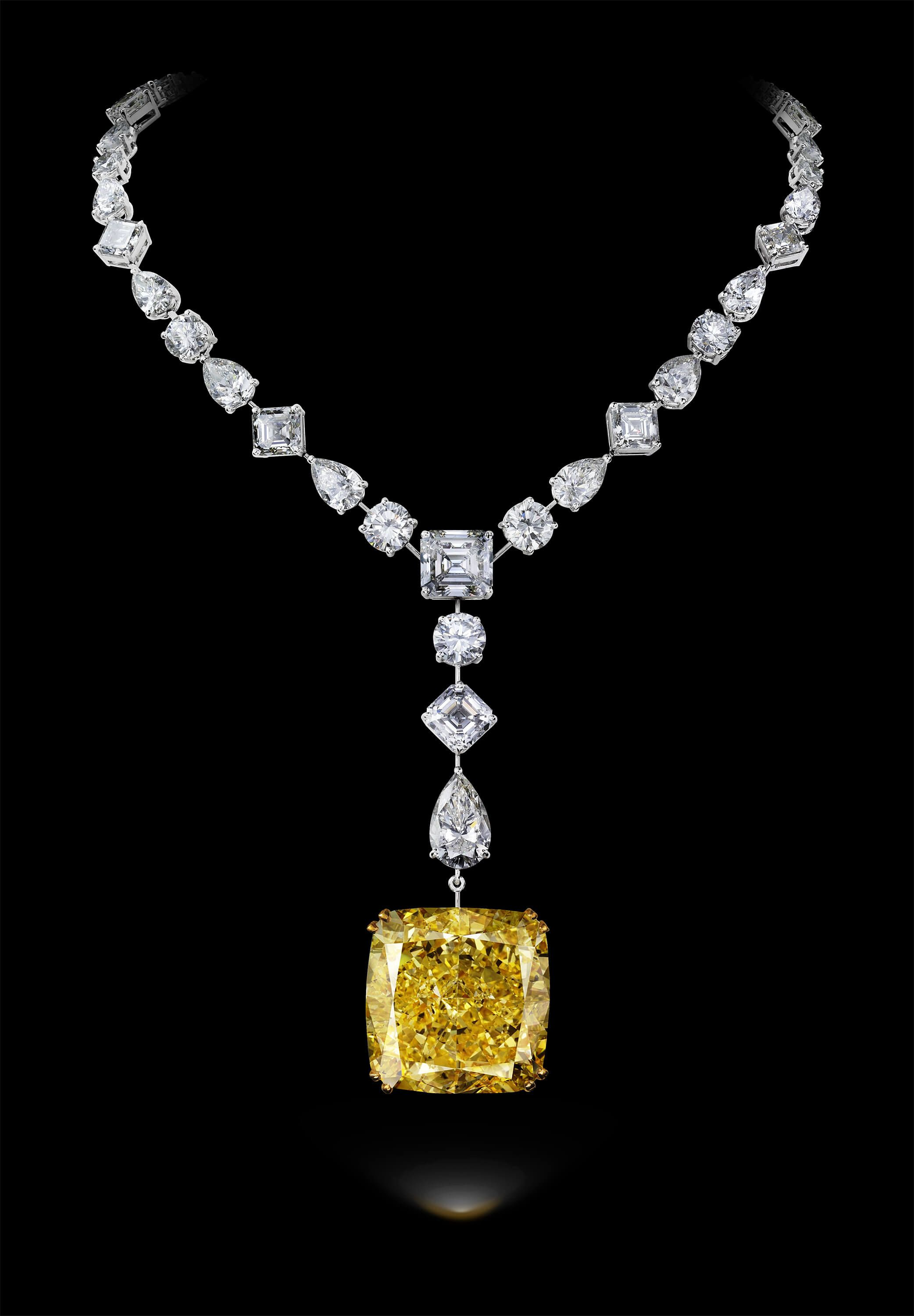 rosenberg shape drop canary pear round diamond fancy cut gia carat galleries diamonds yellow necklace