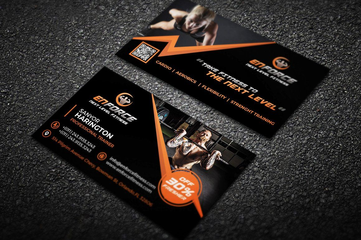 Fitness Gym Sports Business Card Business Card Photoshop Business Cards Creative Templates Sports Business