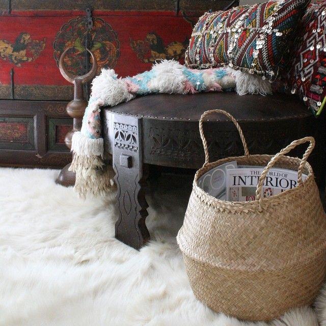 Rice Basket Chakki Moroccan Wedding Blanket And