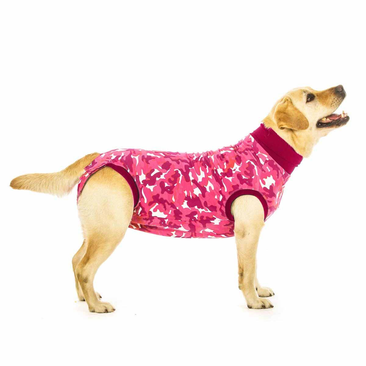 Suitical Dog Recovery Suit Pink Camo Pink Camo Pet Paws Dog Vest