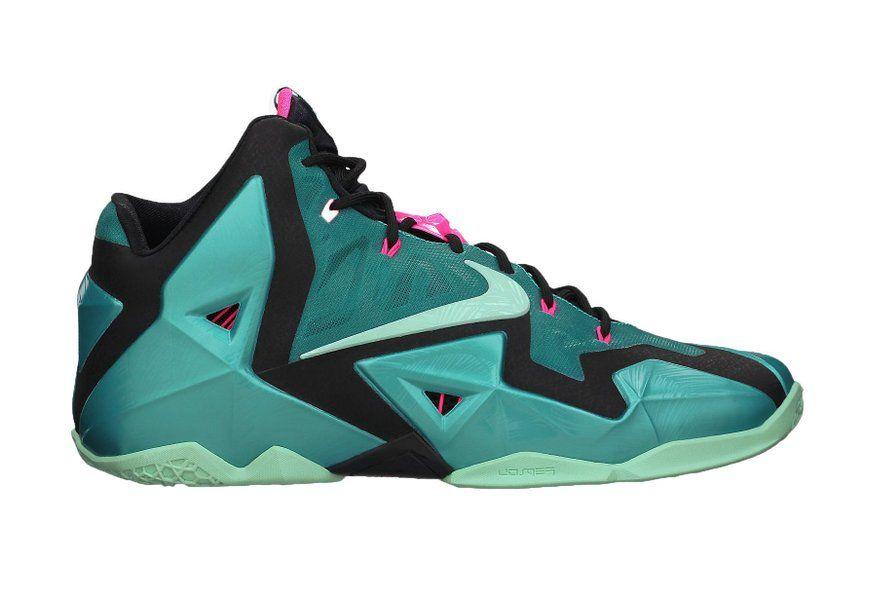 c525125cdd0ea Nike Lebron XI Men's Shoes Sport Turquoise/Black/Medium Mint 616175 ...