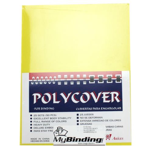 16mil Yellow Leather Grain Poly Covers