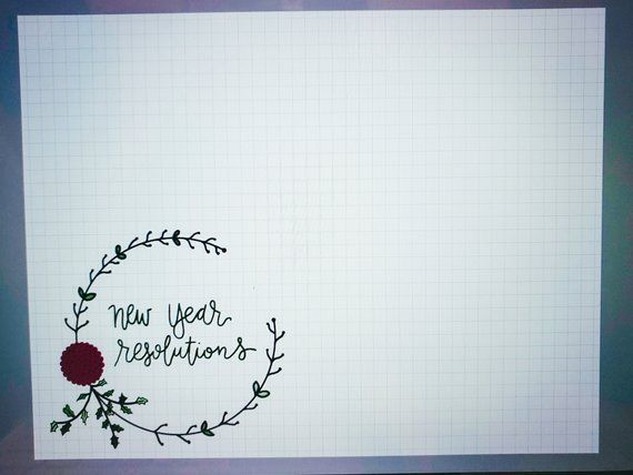 New Year Resolutions Bullet Journal PDF