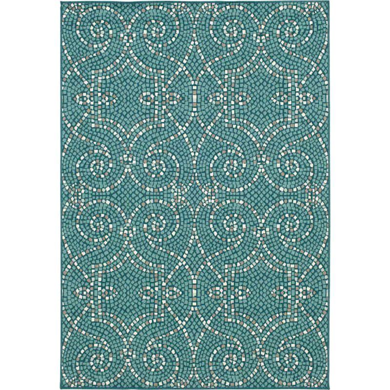 E214 Savina Teal Indoor Outdoor Woven Area Rug 5x7 In 2021 Outdoor Rugs Rugs Outdoor Furnishings Outdoor rugs 5 x 7