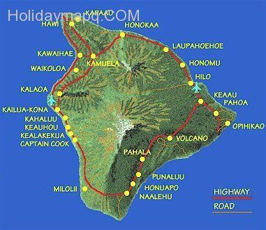 nice Hawaii the big island Holidaymapq Pinterest Big island - best of world map with alaska and hawaii