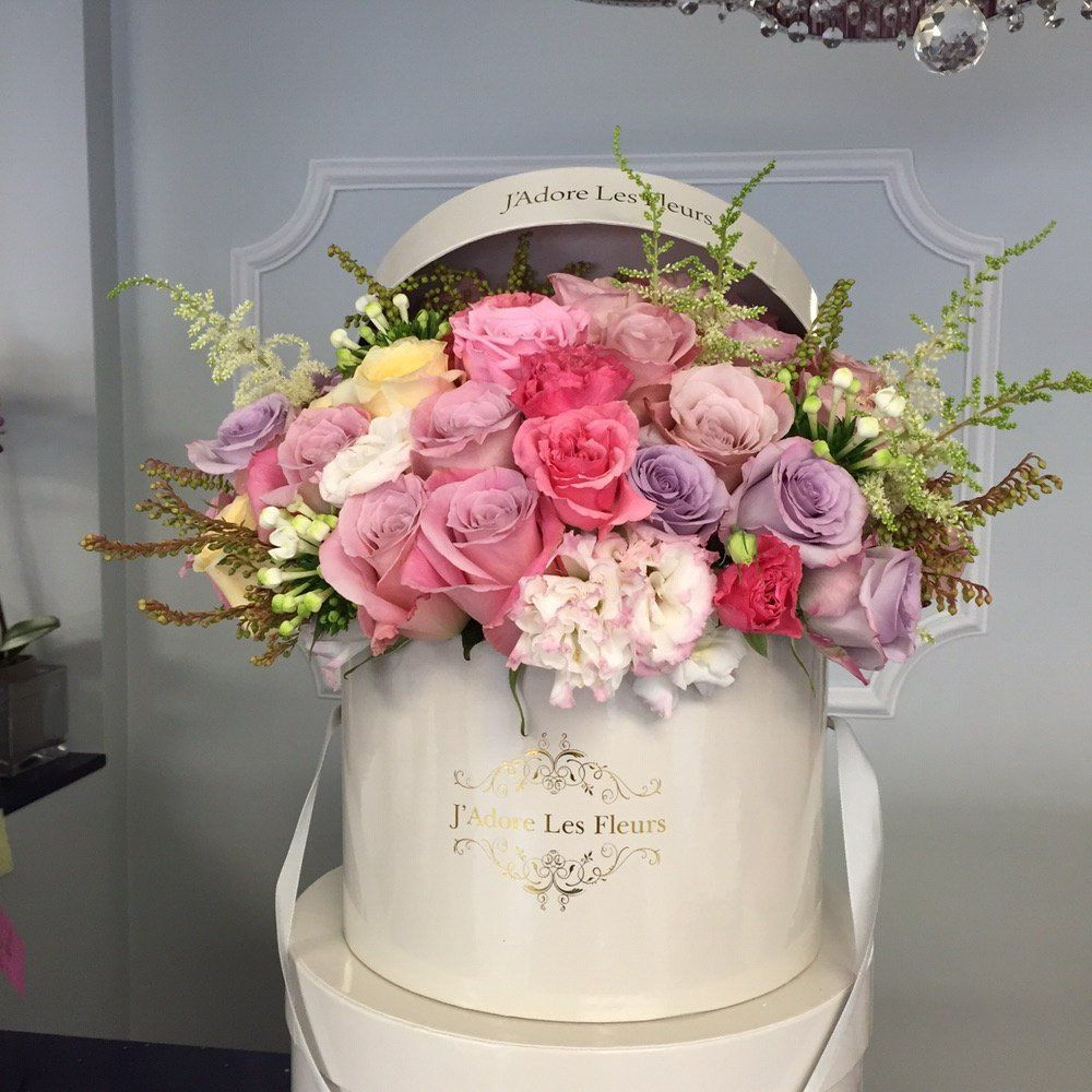 j 39 adore les fleurs bouquet roses elegant flowers hatbox flower flowers pinterest. Black Bedroom Furniture Sets. Home Design Ideas