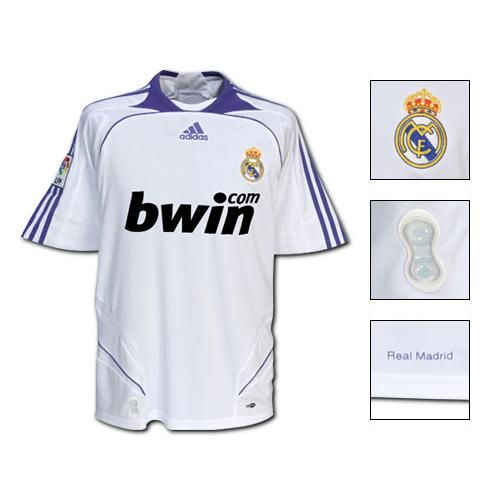 Real Madrid Jersey 2007 2008 Real Madrid Mens Tops Madrid