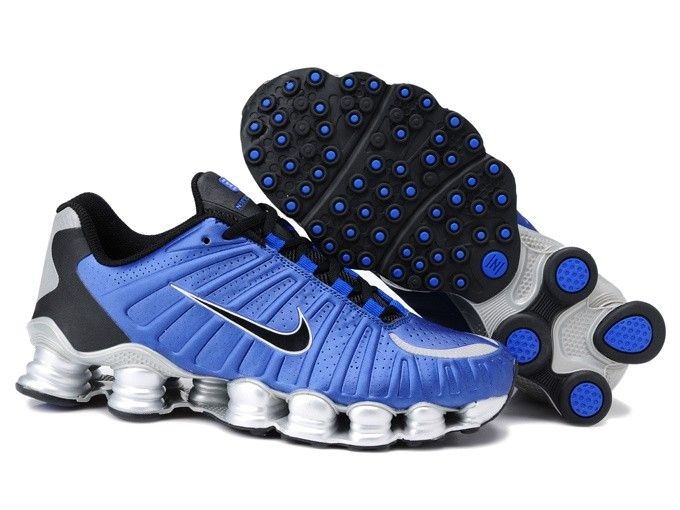 Mens Nike Royal Blue Silver Shox Tlx Shoes