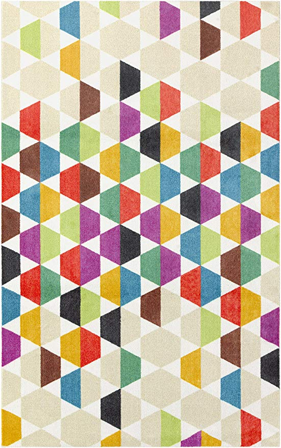 Mohawk Home Prismatic Dondi Geometric Hexagon Precision Printed Area Rug 5 X8 Multicolor Kitchen Dining Kids Area Rugs Area Rugs Rugs