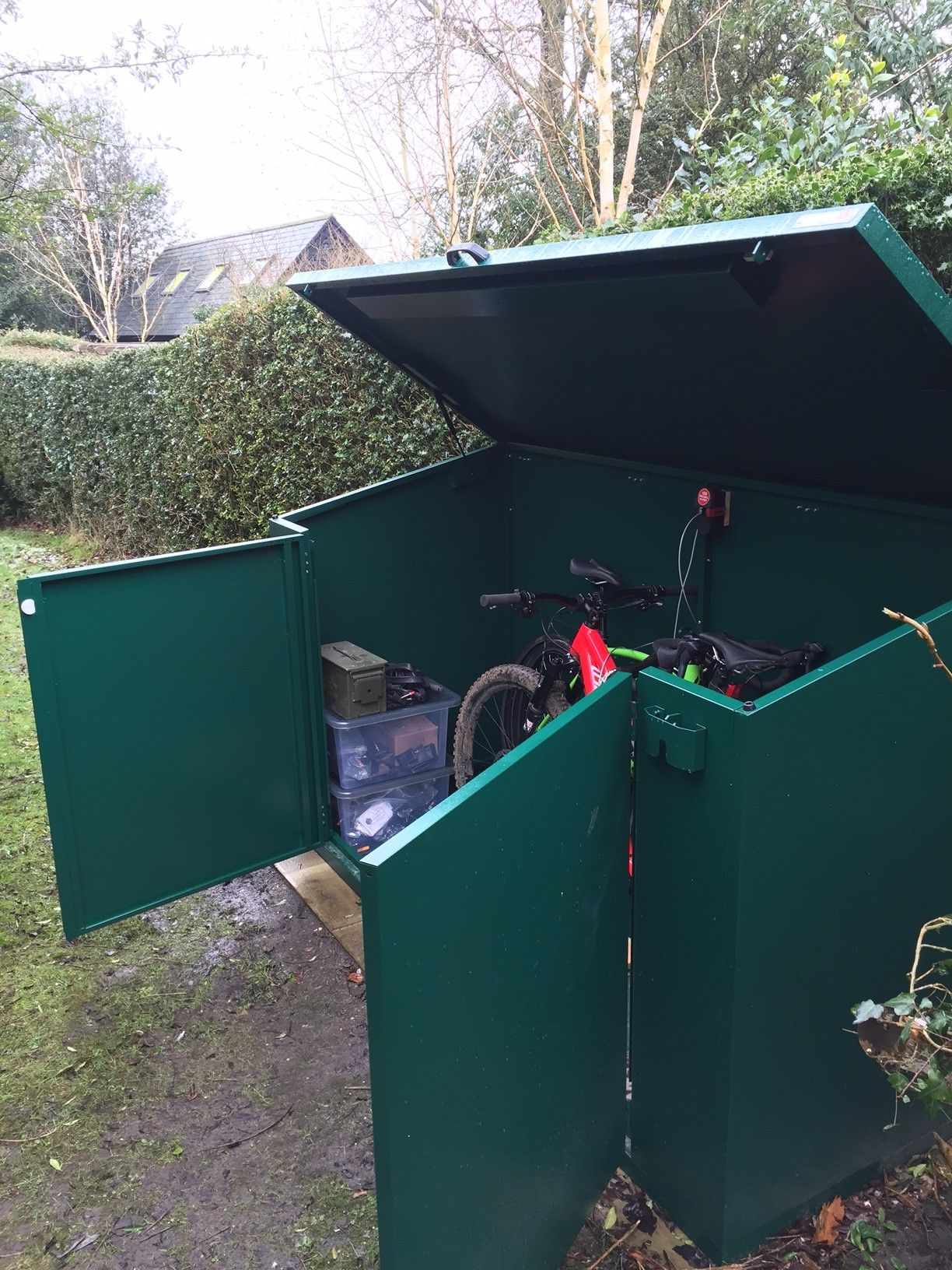 43f0fc7539c Secure Bike Storage from Asgard - Heavy Duty metal sheds made in the UK.  Ideal for storing bikes and gardening equipment. #gardenshed #bikeshed  #garden ...