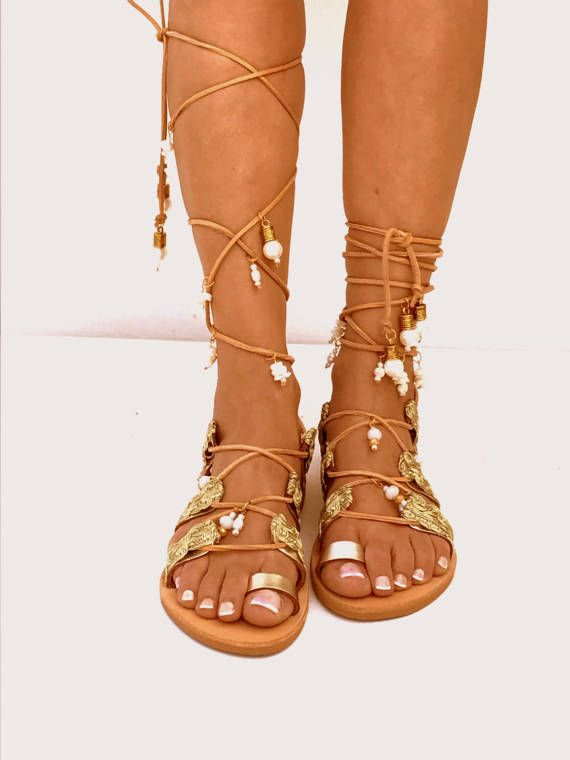 e34fb4084a9 Golden Bridal flat sandals Beach Wedding Sandals mother of