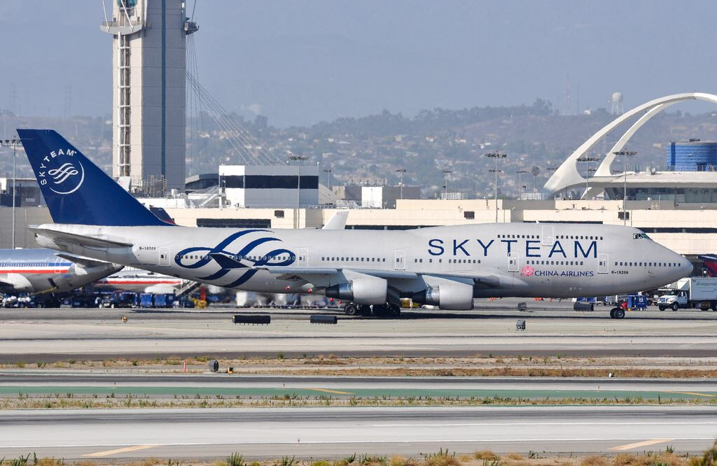 """China Airlines 747409 wearing the """"SKY TEAM"""" livery at"""