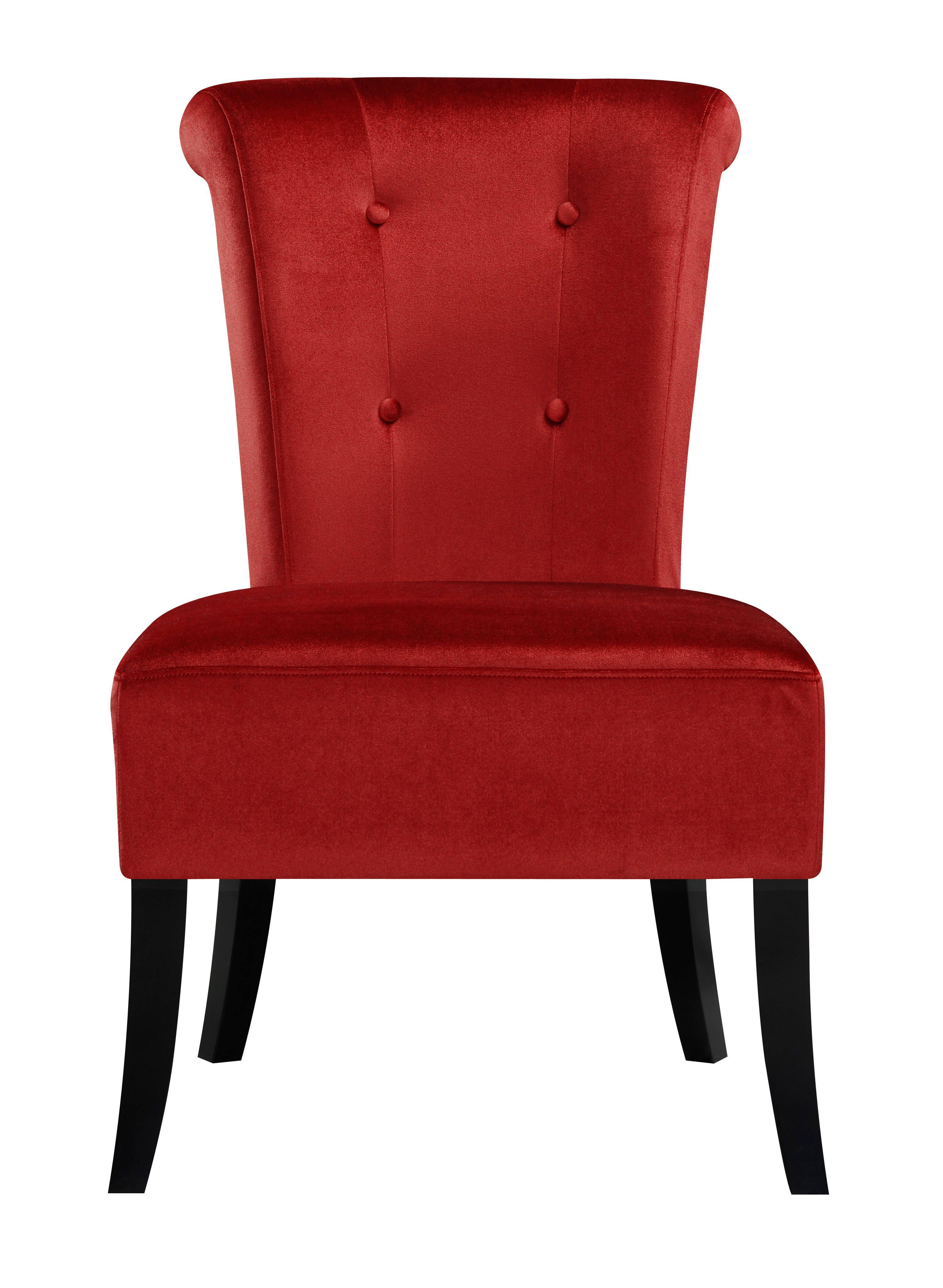 Contemporary Red Hardwood Fabric Carolina Crimson Dining Chair