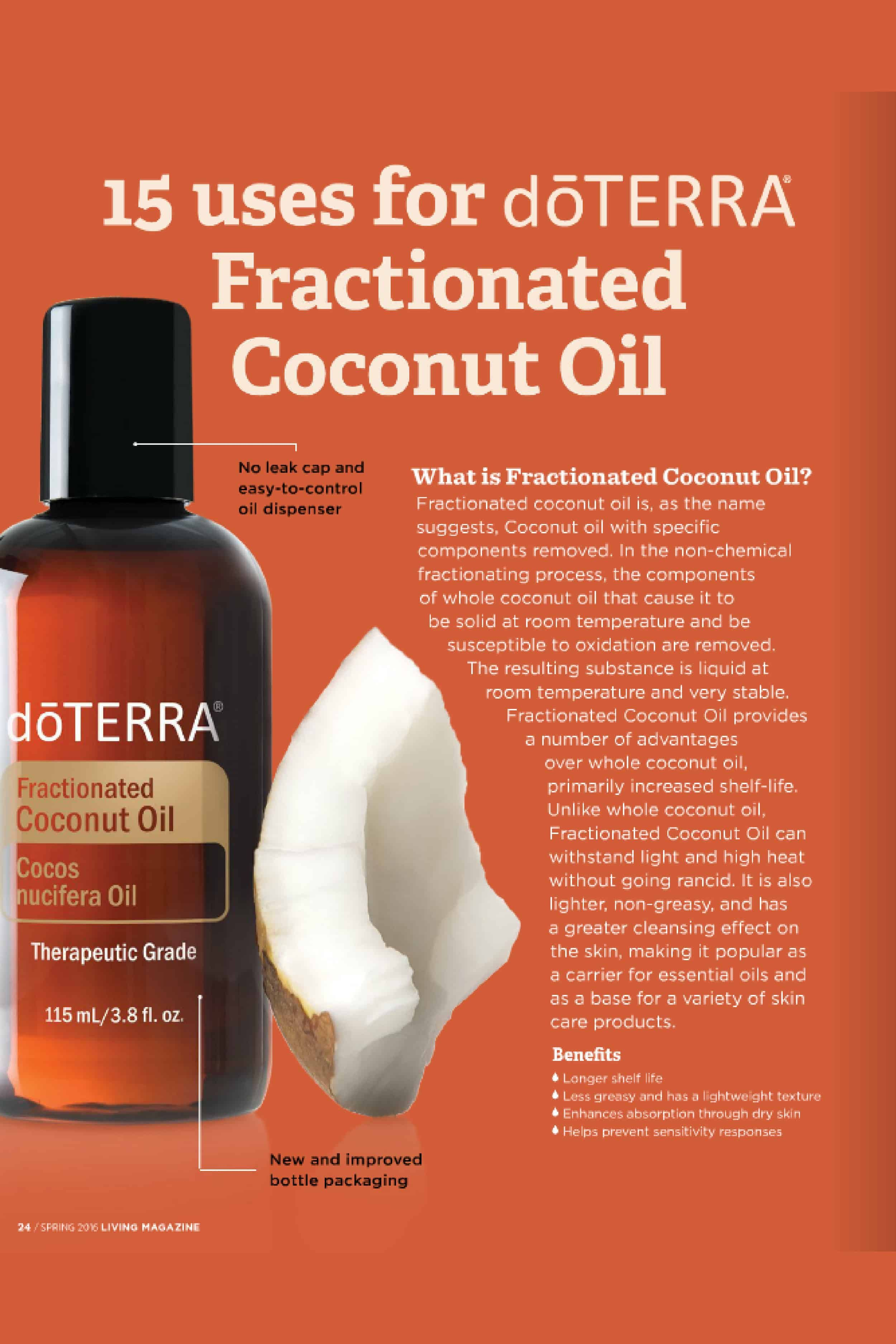 Uses for doTERRA Fractionated Coconut Oil | Health & Fittness