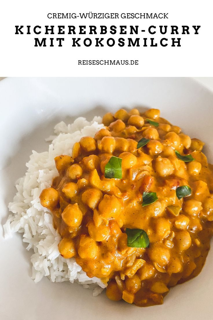 Photo of Kichererbsen-Curry mit Kokosmilch