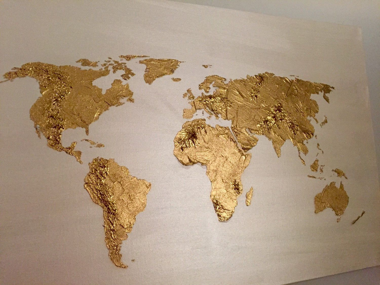 Pin by ren smithe on metallics gold glistening pinterest original world map painting acrylic world map art globe world map canvas painting world map art gold world map art world gumiabroncs Choice Image