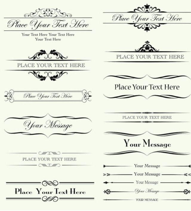 letter headings