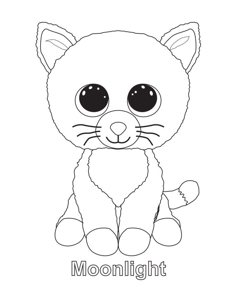 Moonlight The Cat Ty Beanie Boo Beanie Boo Birthdays