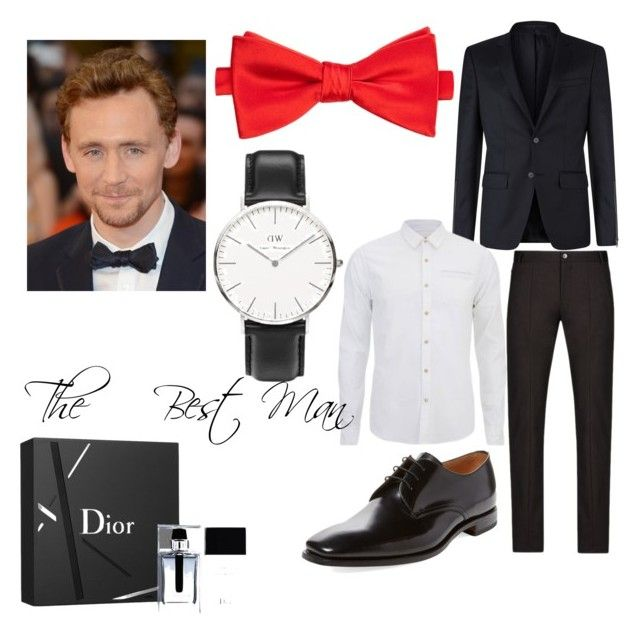 """The Best Man"" by ms-riotmayhem ❤ liked on Polyvore featuring Givenchy, Emporio Armani, Scotch & Soda, Saddlebred, Loake, Daniel Wellington and Christian Dior"