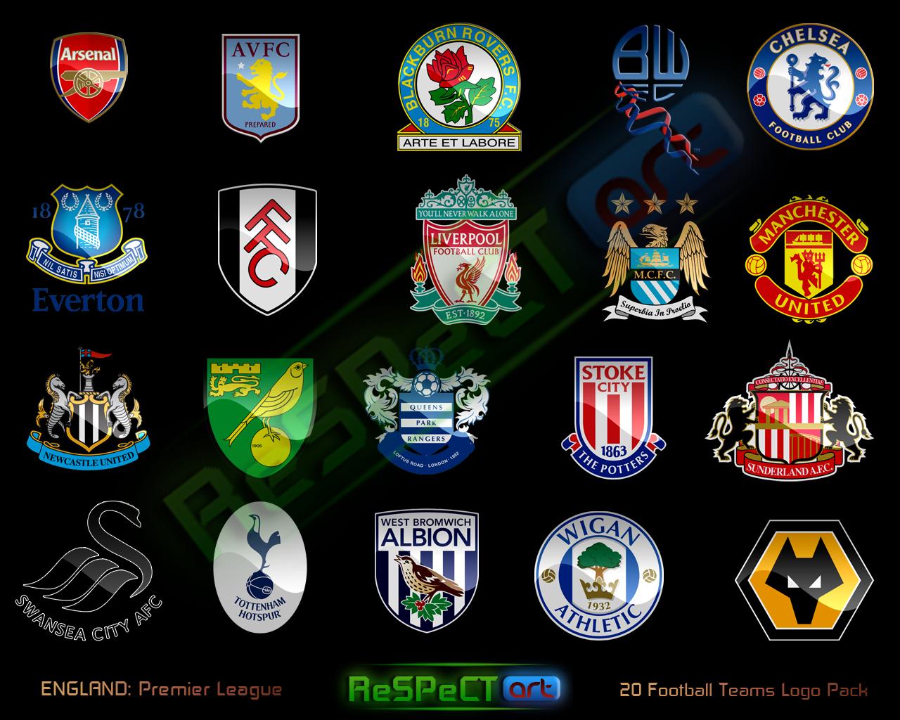 English Clubs Logos Premier League Logo Premier League Soccer Logo