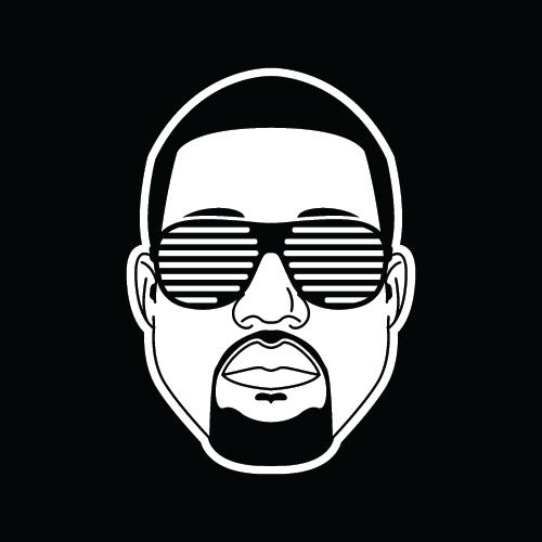 Kanye west sticker 2 shutter shades kanye west yeezy