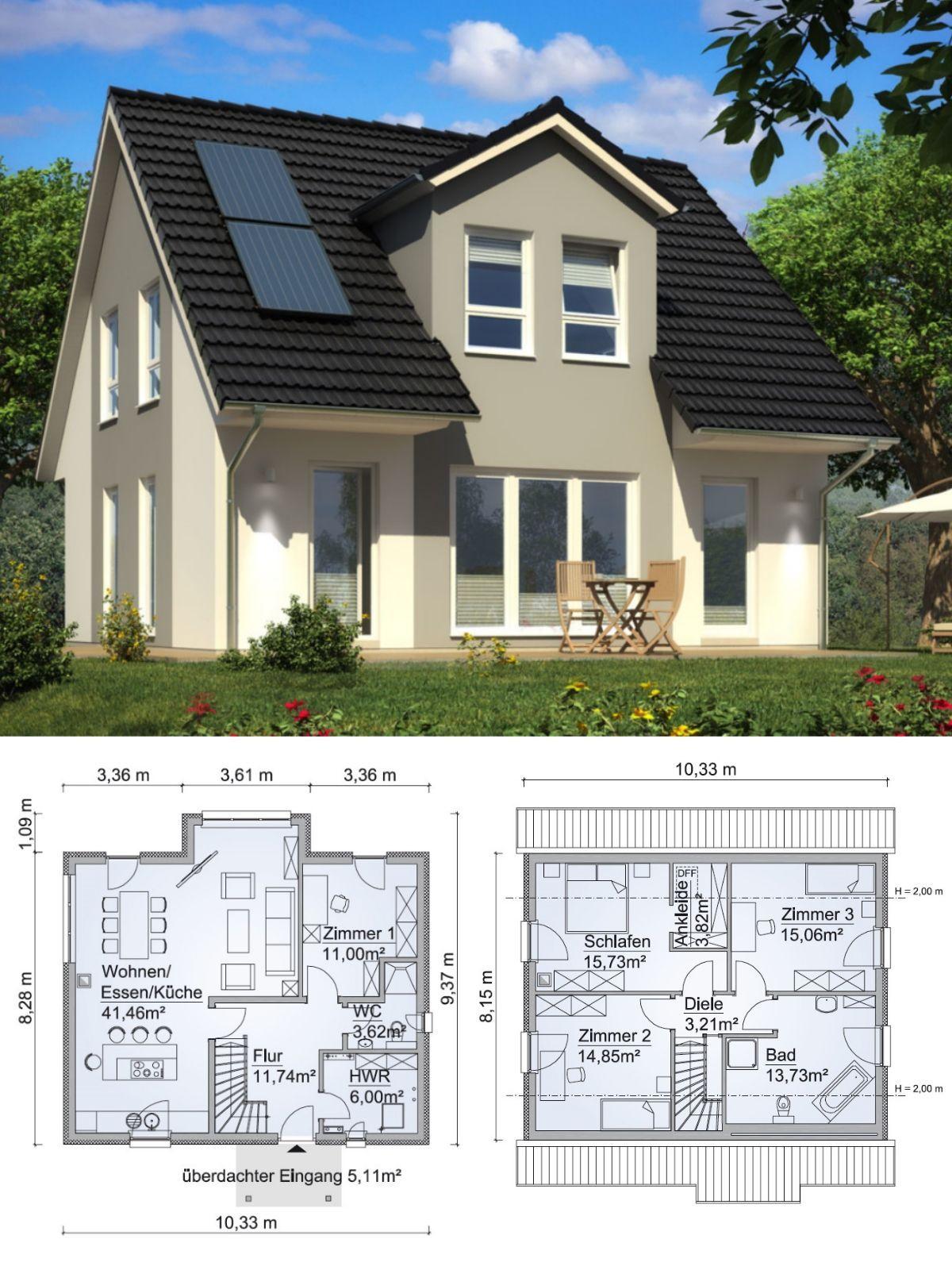 Einfamilienhaus klassisch mit satteldach architektur for Einfamilienhaus klassisch