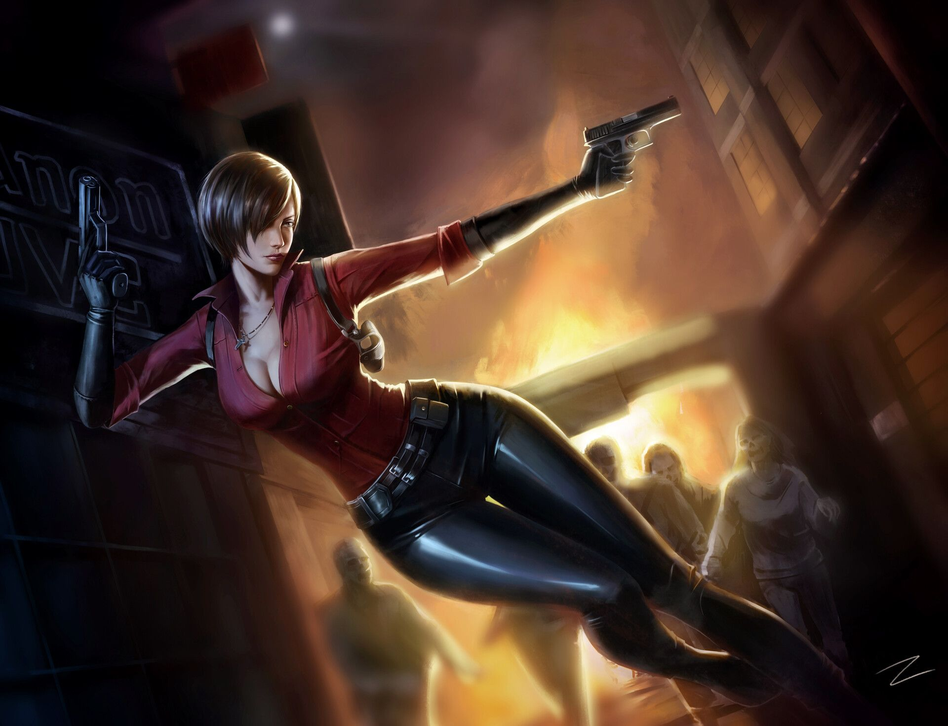 Artstation Ada Wong Zd S With Images Ada Resident Evil