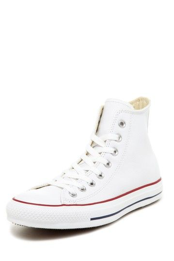 ebd05828fc29 Chuck Taylor Unisex White Leather High Top Sneaker by Converse on  HauteLook
