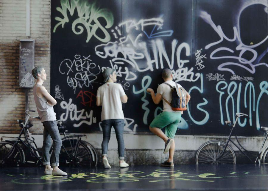 Les grapheurs #Moïmee3D #CoolDeLuxe #CourBleue #BHV #Danse #Moïmap #Design