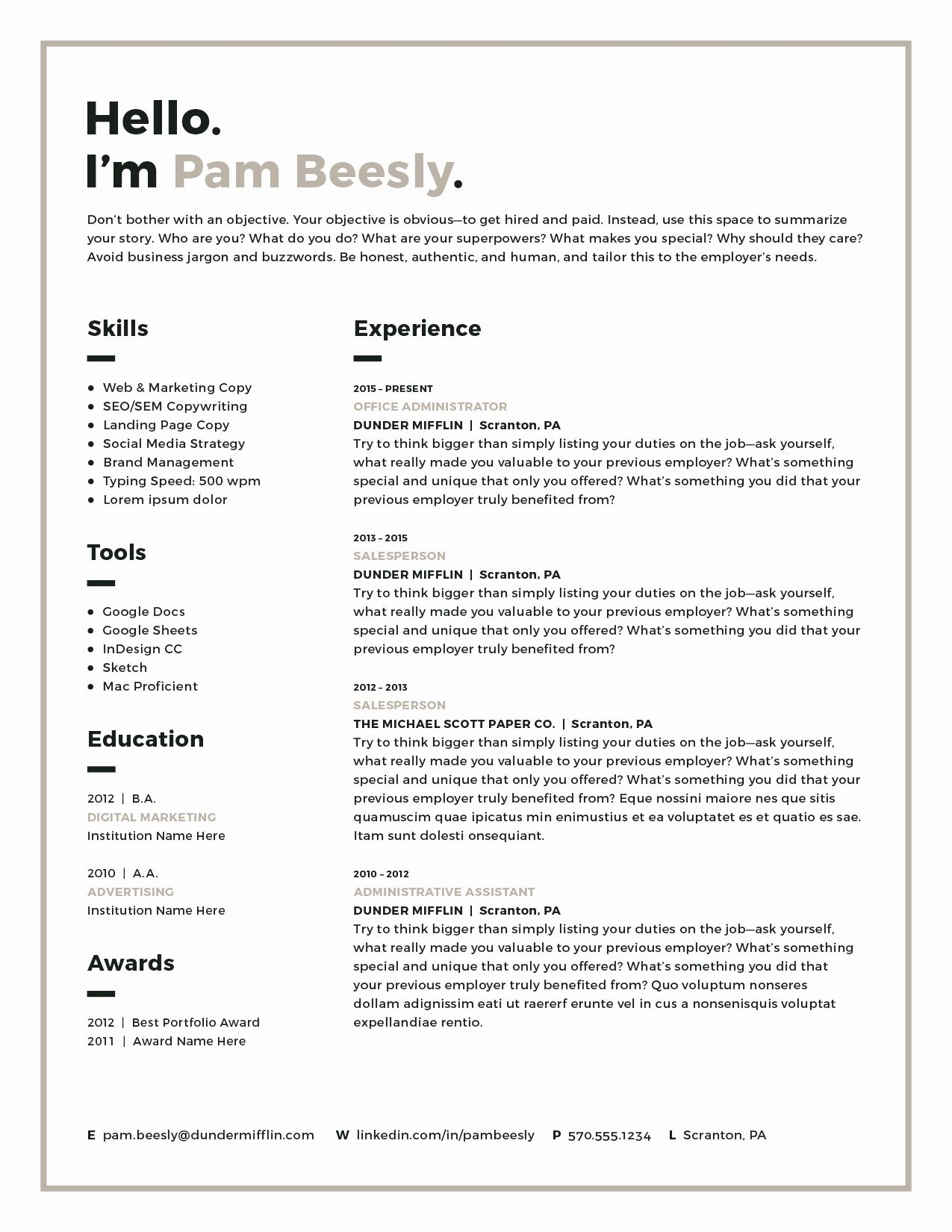 Resume Templates for Mac Lovely Resume Template Modern