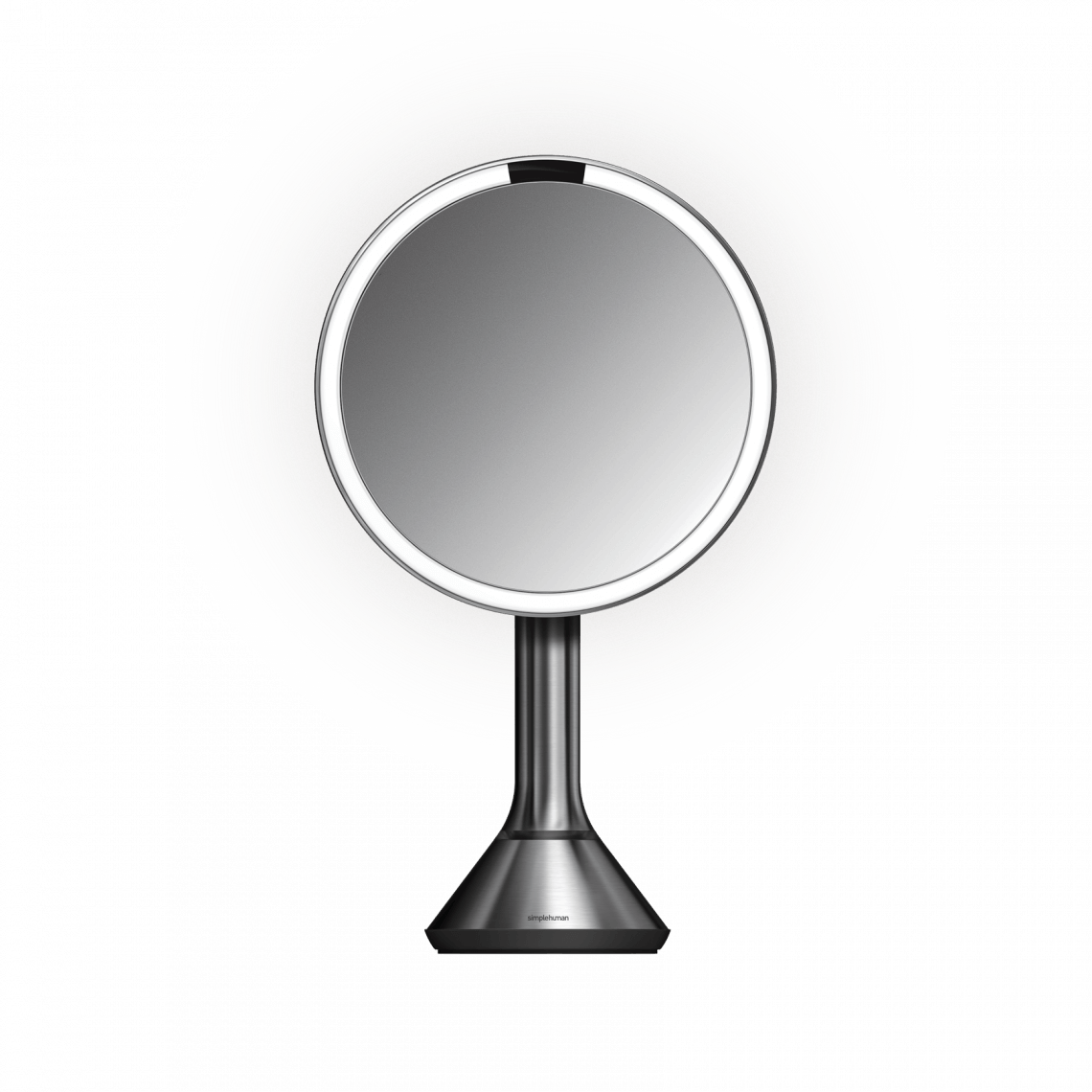 Sensor Mirror With Touch Control Brightness 8 Round 5x Magnification Stainless Steel Makeup Vanity Mirror Mirror With Lights Mirror