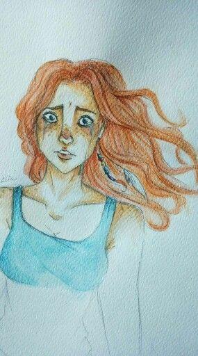 Red Hair Girl #disegniritrovati #drawing #sadness