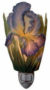 Amazon.com: Bearded Iris Nightlight   Flowers Of Light Ibis U0026 Orchid  Designs: