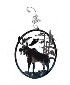 Moose Silver Laser Cut Ornament